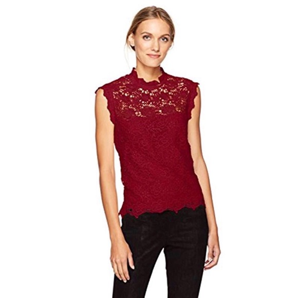 12 Nanette Lepore Womens Top Red